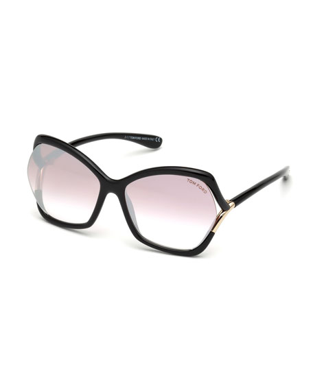 97bc572d32a6 TOM FORD Astrid Gradient Butterfly Sunglasses