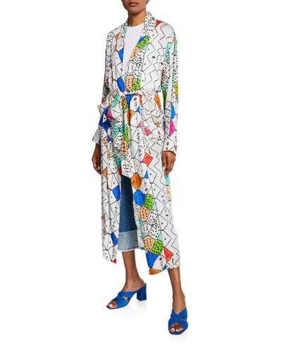 Soufiane Long Self-Tie Kimono