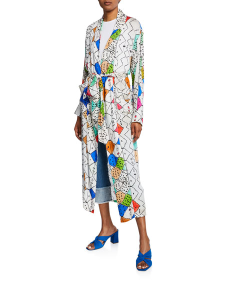 Chufy Soufiane Long Self-Tie Kimono