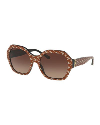 Octagon Gradient Acetate Sunglasses