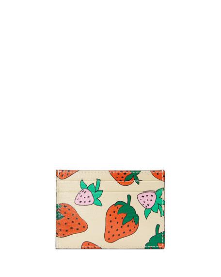 Gucci Zumi Tasty Strawberry Card Case