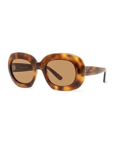 ffd253166f7b Chunky Oval Acetate Sunglasses Quick Look. Celine