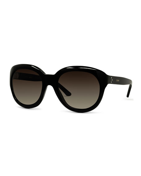 Celine Gradient Round Acetate Sunglasses