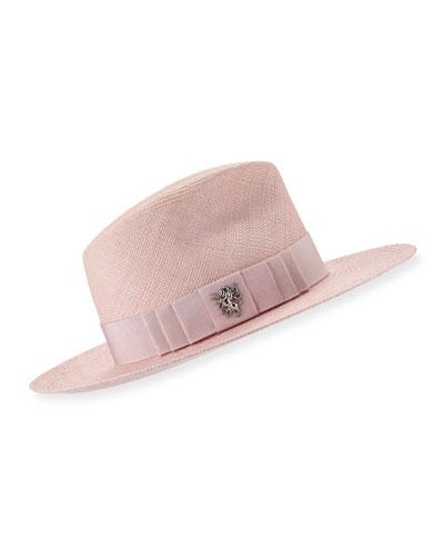 Straw Trilby Hat