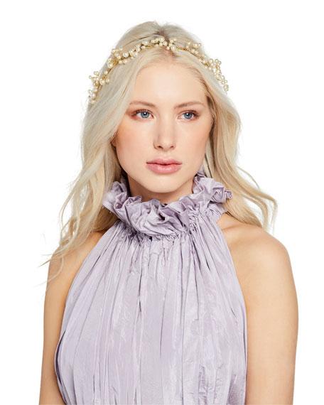 Jennifer Behr Primavera Swarovski Pearl Circlet Headband a0a42bef1f7