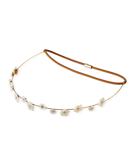 Carlotta Crystal Flower Circlet Headband
