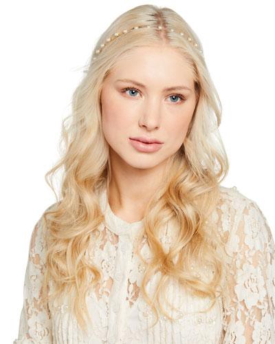 Bianca Crystal Pearl Headband Quick Look. Jennifer Behr 9af3c1e1157