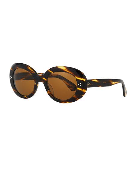 Oliver Peoples Oval Acetate Sunglasses
