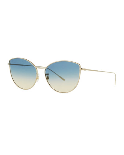 423fb721d5f Gradient Metal Cat-Eye Sunglasses Quick Look. Oliver Peoples