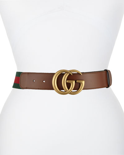 Wide Leather/Web Belt