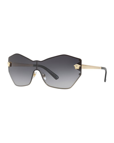 Rimless Shield Medusa Head Sunglasses