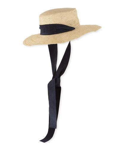 1d5c496613b1e Nina Straw Sun Hat w  Pull-Through Scarf
