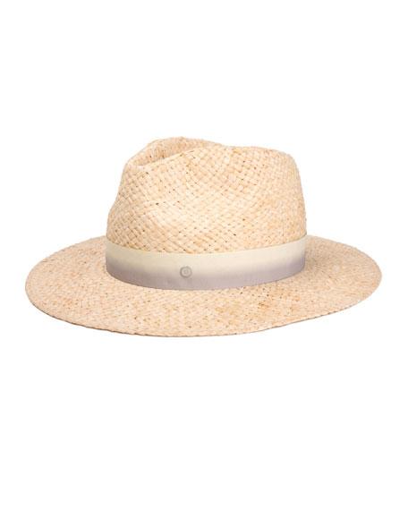 83d27e7c07b396 Maison Michel Rico Woven Raffia Fedora Hat