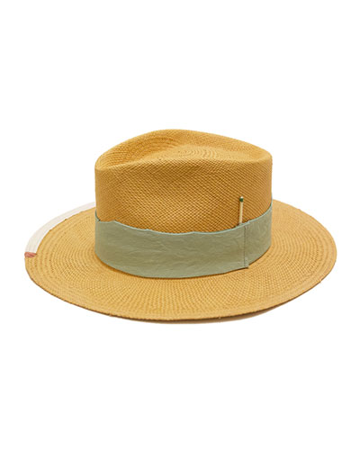 Playa Verde Straw Fedora Hat