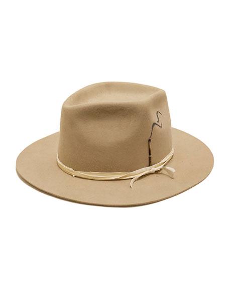 bf965e10d8170 Nick Fouquet Smoking Beaver Felt Fedora Hat