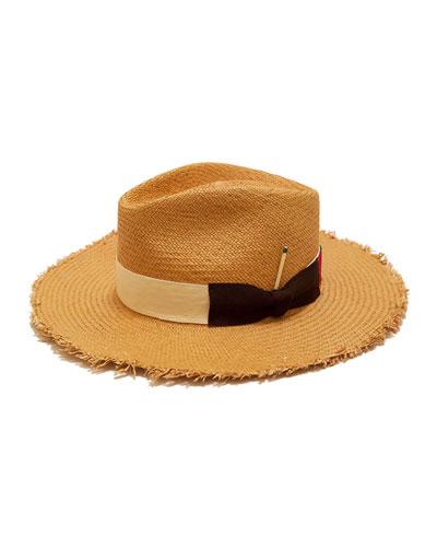 Melisande Straw Fedora Hat