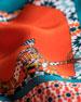 An Oriental Illusion Printed Small Silk Scarf