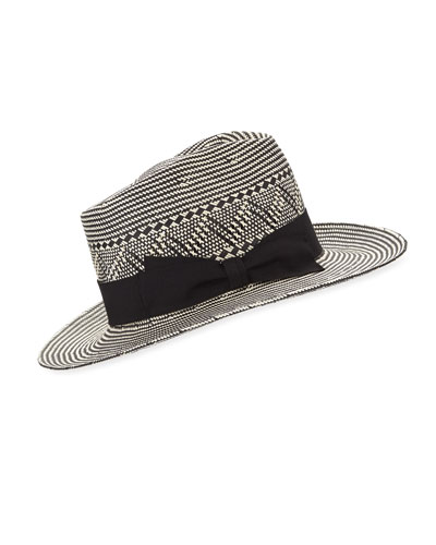 Two-Tone Paper Fedora Hat