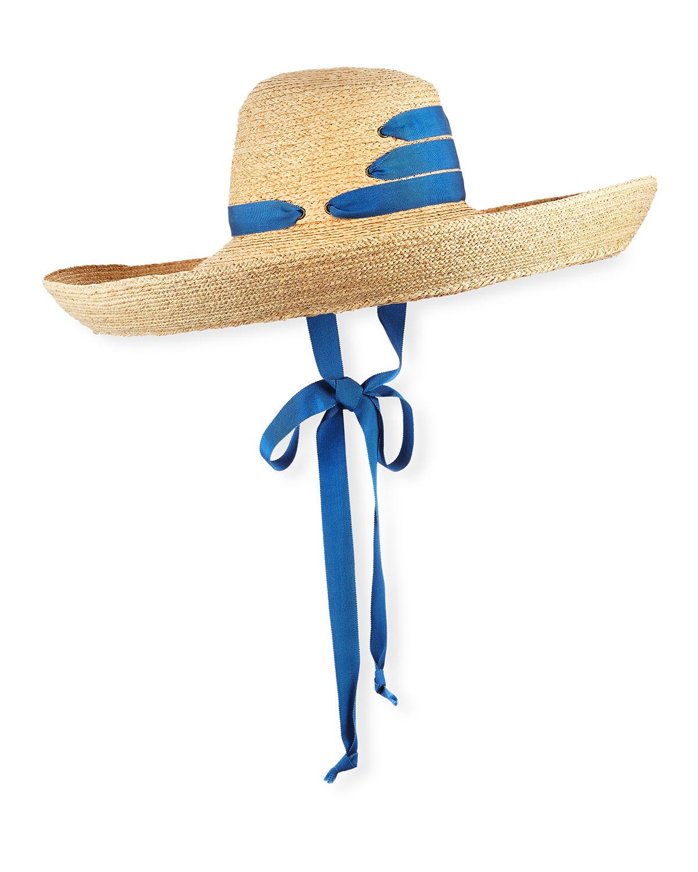 Lola Hats Hats ESPARTINA RAFFIA SUN HAT W/ SELF-TIE RIBBON