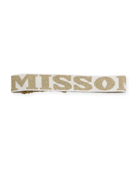 Metallic Logo Intarsia Headband