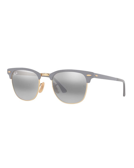 73c5aeb0c3 Persol Metal Universal Fit Pilot Sunglasses with Gradient Lenses