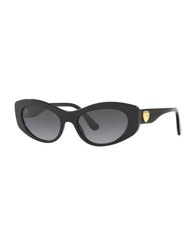 Cat-Eye Logo Heart Sunglasses