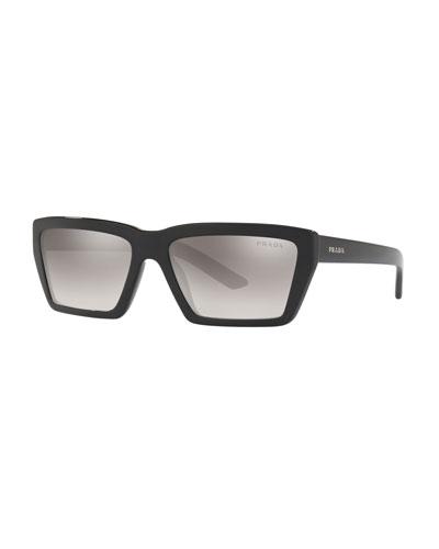 Square Mirrored Acetate Sunglasses