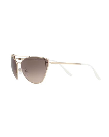 Metal Cat-Eye Sunglasses