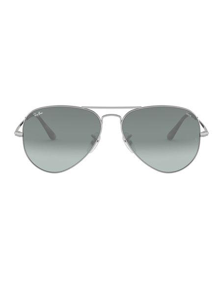 Gradient Metal Aviator Sunglasses