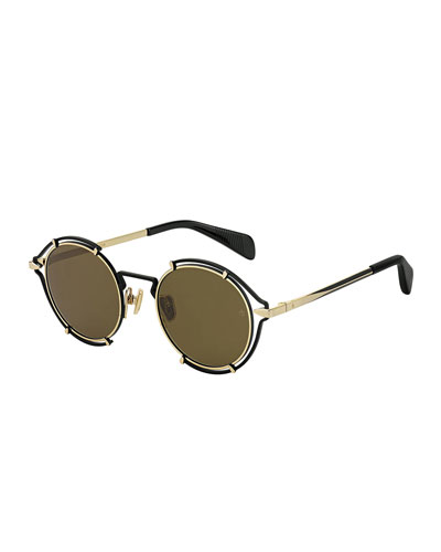 Round Cutout Metal Sunglasses