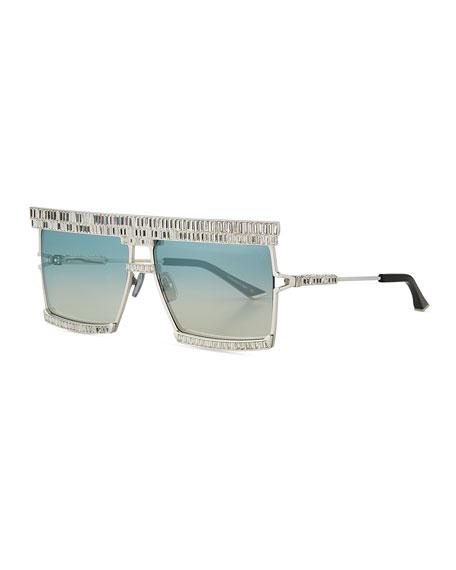 Anna-Karin Karlsson The Emperor Square Titanium Sunglasses w/