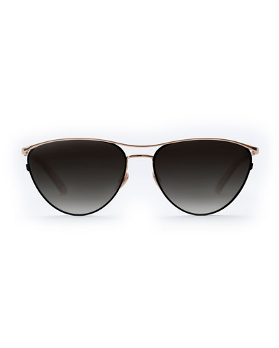 Cohn Titanium/Acetate Cat-Eye Sunglasses