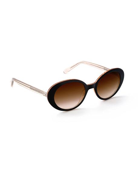 Krewe Sunglasses LAUREL OVAL GRADIENT SUNGLASSES