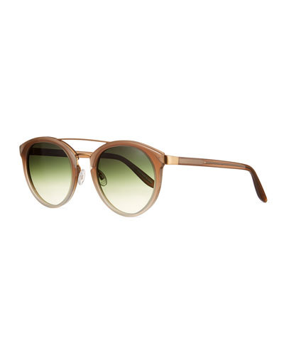 Dalziel Round Mirrored Sunglasses