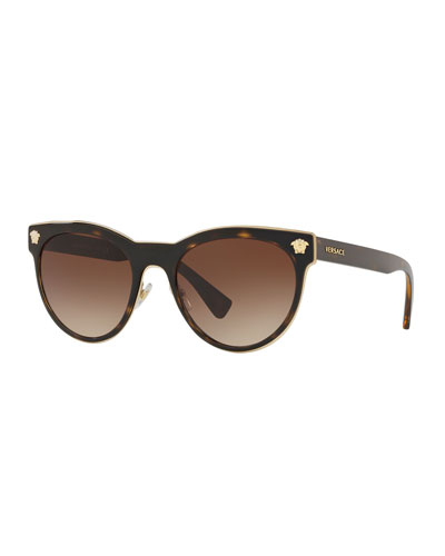 Round Metal Medusa Head Sunglasses