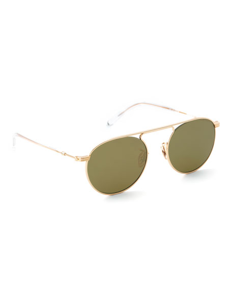 Krewe Sunglasses RAMPART AVIATOR SUNGLASSES - POLARIZED