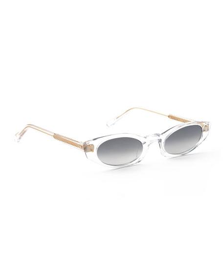 KREWE Fern Mirrored Cat-Eye Sunglasses
