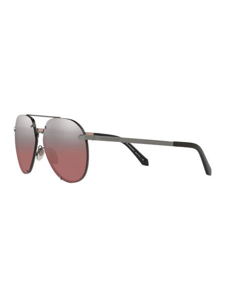 fdbd74e675c3 Burberry Mirrored Metal Aviator Sunglasses