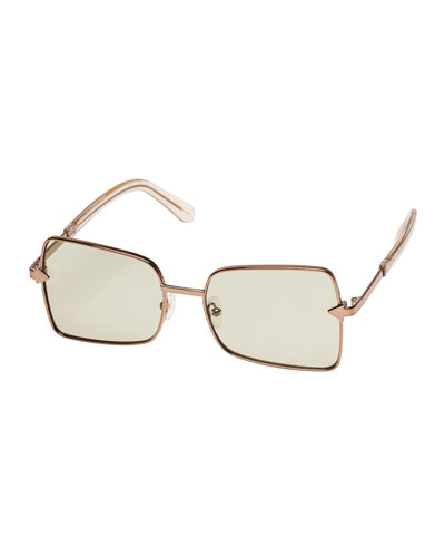 Wisdom Square Metal Sunglasses