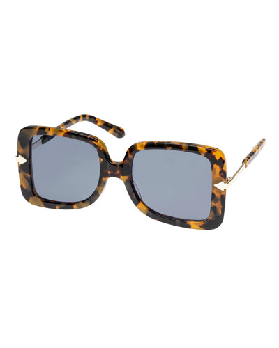 299f47185783 Eden Square Plastic   Metal Sunglasses Quick Look. Karen Walker
