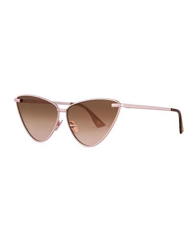 Nero Cat-Eye Mirrored Sunglasses