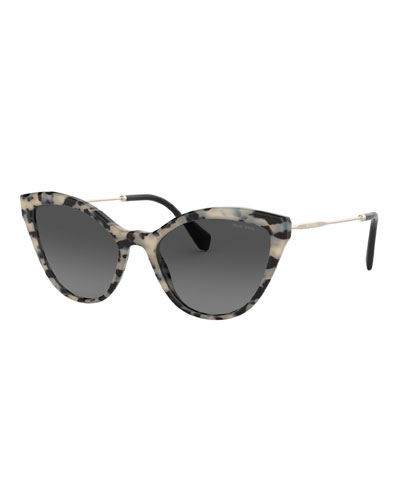 748319b60b Acetate   Metal Cat-Eye Sunglasses Quick Look. Miu Miu