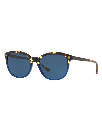 Two-Tone Acetate Square Sunglasses