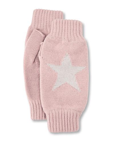 Star Intarsia Wrist Warmers