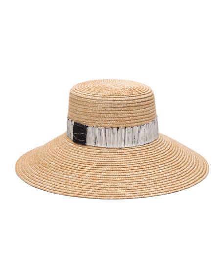 3cbf6dafb3a3b Eugenia Kim Annabelle Straw Sun Hat w  Contrast Trim