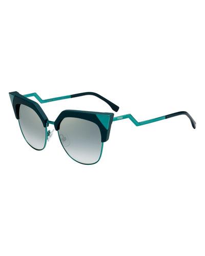 Iridia Mirrored Cat-Eye Sunglasses