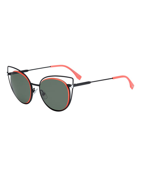 Round Wire-Rim Sunglasses