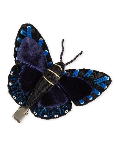 Beaded Butterfly Hair Clip