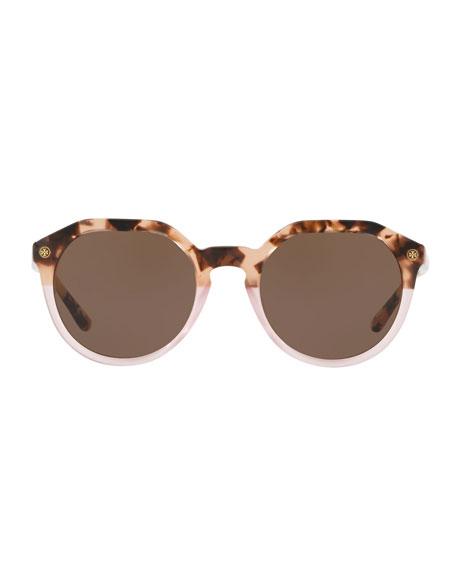 Round Two-Tone Acetate Sunglasses