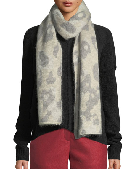 Rag & Bone Leopard-Print Mohair Rectangle Scarf